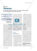 Teleskope - Ein über 400 Jahre altes Prinzip und moderne Wissenschaft in einem Workshop für die Sekundarstufe I Preview 1