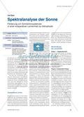 Spektralanalyse der Sonne - Förderung von Schülerkompetenzen in einer kooperativen Lerneinheit zur Astrophysik Preview 1
