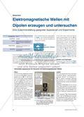 Elektromagnetische Wellen mit Dipolen erzeugen und untersuchen - Eine Zusammenstellung geeigneter Apparaturen und Experimente Preview 1