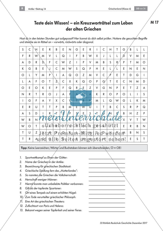 Antike Kreuzworträtsel