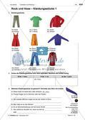 Kleidungsstücke benennen und kaufen: Wortschatz einführen Preview 2