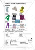 Kleidungsstücke benennen und kaufen: Wortschatz einführen Preview 3