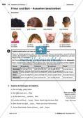 Das Aussehen von Personen beschreiben: Wortschatz einführen Preview 5