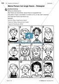 Das Aussehen von Personen beschreiben: Anwendung und Übung von Wortschatz Preview 3