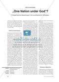 """One Nation under God""? - Protestantisches Gedankengut in der amerikanischen Zivilreligion Preview 1"