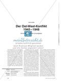 Der Ost-West-Konflikt 1945 – 1948 - Kompetenzorientierte Lernaufgaben Preview 1