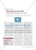 """Keine Angst vor dem Wolf! - Wege zum Theater : """"Avant la peur du loup"""" im Unterricht Preview 1"""