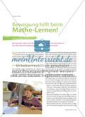 Bewegung hilft beim Mathe-Lernen! - Anregungen und Beispiele Preview 1