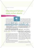 Waveboard fahren – aber sicher doch!: Methodische Hinweise Preview 1