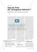 """Sagt der Preis die """"ökologische Wahrheit""""? - Externe Kosten und deren Internalisierung durch Steuern Preview 1"""