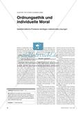 Ordnungsethik und individuelle Moral - Gesellschaftliche Probleme benötigen institutionelle Lösungen Preview 1