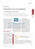 Evaluation von Lernaufgaben - Individuelle Förderung junger Spanischlerner Preview 1