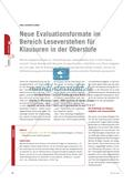 Neue Evaluationsformate im Bereich Leseverstehen für Klausuren in der Oberstufe Preview 1