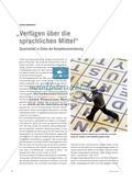 """""""Verfügen über die sprachlichen Mittel"""" - Spracharbeit in Zeiten der Kompetenzorientierung Preview 1"""