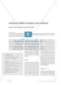 animum debes mutare, non caelum - Seneca und der Reisetourismus in Rom Preview 1