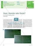 Hund, Hamster oder Gecko? - Einen Haustier-Ratgeber gestalten Preview 1