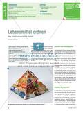 Lebensmittel ordnen - Eine Ernährungspyramide basteln Preview 1