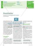 Kwashiorkor - Ursachen der Proteinmangelkrankheit erarbeiten Preview 1