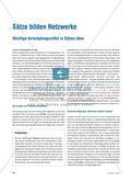 Sätze bilden Netzwerke - Wichtige Verknüpfungsmittel in Sätzen üben Preview 1