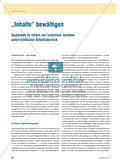 """""""Inhalte"""" bewältigen - Gedanken zu einem nur scheinbar leichten unterrichtlichen Arbeitsbereich Preview 1"""