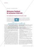 Wirksames Feedback für wirksamen Unterricht - Peer Feedback heißt, Respekt und Anerkennung zu zeigen Preview 1