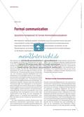 Formal Communication - Sprachliche Kompetenzen für formale Kommunikationssituationen Preview 1