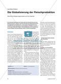 Die Globalisierung der Fleischproduktion - Räumliche Verlagerungsprozesse und ihre Ursachen Preview 1
