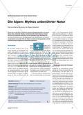 Die Alpen: Mythos unberührter Natur - Die touristische Nutzung der Alpen bewerten Preview 1