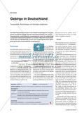 Gebirge in Deutschland - Topographie, Morphologie und Geologie vergleichen Preview 1
