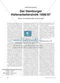 Der Hamburger Hafenarbeiterstreik 1896/97 - Streiks und Gewerkschaften als Druckmittel Preview 1