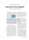 Historische (Fach-)Begriffe - Visualisieren, vernetzen, versprachlichen Preview 1