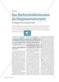 Das Rechtschreibinterview als Diagnoseinstrument Preview 1