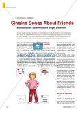 Singing Songs About Friends - Monologisches Sprechen durch Singen anbahnen Preview 1