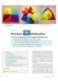 Mathematik_neu, Primarstufe, Raum und Form, Körper, Modelle, Flächenmodell, Körpernetze, Falten, Prisma, Kaleidozyklus