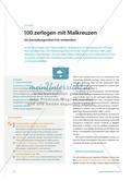 100 zerlegen mit Malkreuzen: Ein Darstellungsmittel früh vorbereiten Preview 1