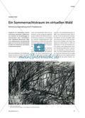 Ein Sommernachtstraum im virtuellen Wald - Bühnenraumgestaltung durch Projektionen Preview 1