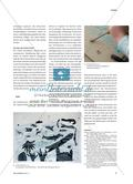 Gedruckte Unterwasserwelten - Grundschulkinder gestalten Zweifarbdrucke Preview 3