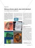 Memory-Karten: gleich, aber nicht identisch - Experimentelles Drucken mit Alltagsmaterial Preview 1