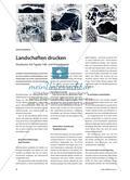 Landschaften drucken - Strukturen mit Tapete, Falt- und Knäuelpapier Preview 1
