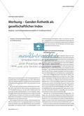 Werbung – Gender-Ästhetik als gesellschaftlicher Index: Analyse- und Interpretationsmodelle im Großraum Kunst Preview 1