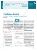 Funktionen drehen - Einen flexiblen Umgang mit Funktionen und ihren Graphen trainieren Preview 1