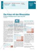 Das Kreuz mit den Minuszahlen - Mit Malkreuzen Multiplikationsregeln für negative Zahlen finden Preview 1