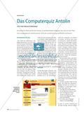 Das Computerquiz Antolin - Lese- oder Verkaufsförderung? Preview 1