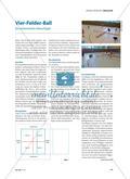 Vier-Felder-Ball - Ein actionreiches Abwurfspiel Preview 1