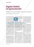 Digitale Medien im Sportunterricht - Möglichkeiten und Grenzen eines pädagogisch wünschenswerten Medieneinsatzes Preview 1