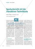 Sportunterricht mit der interaktiven Technikkarte - Digitale Medien im Schulsport nutzen Preview 1