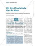 Mit dem Mountainbike über die Alpen - Schülerinnen und Schüler planen und realisieren eine Alpenüberquerung Preview 1