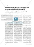 Metalle – begehrte Ressourcen in einer globalisierten Welt Preview 1