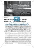 """Redoxreaktionen – ein """"heißes Eisen"""" im Chemieunterricht? Preview 1"""