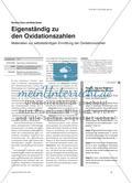 Eigenständig zu den Oxidationszahlen - Materialien zur selbstständigen Ermittlung der Oxidationszahlen Preview 1
